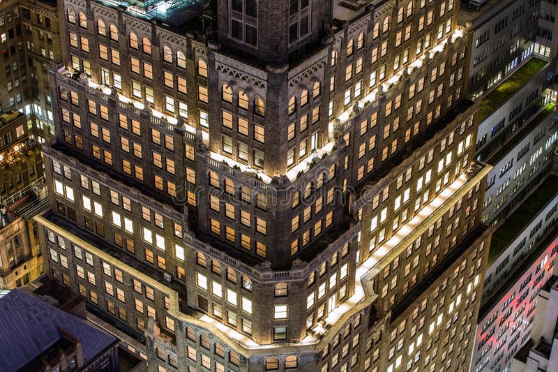 De luchtmening van Manhattan stock foto's