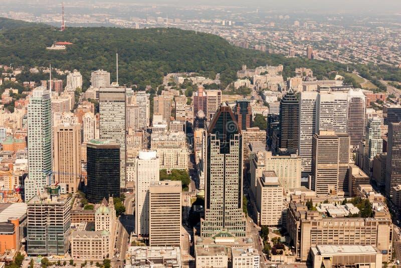 De luchtmening van Montreal royalty-vrije stock afbeelding
