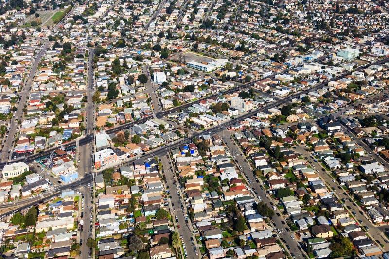 De Luchtmening van Oakland stock fotografie