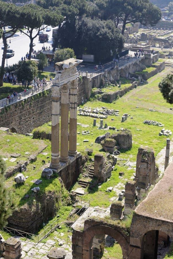 De luchtmening van oud Rome, Italië royalty-vrije stock afbeelding