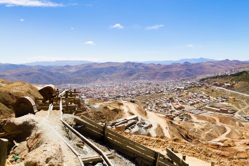 De luchtmening van Potosi, Bolivië stock fotografie
