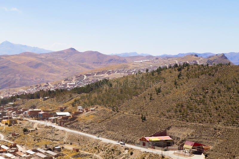 De luchtmening van Potosi, Bolivië royalty-vrije stock fotografie