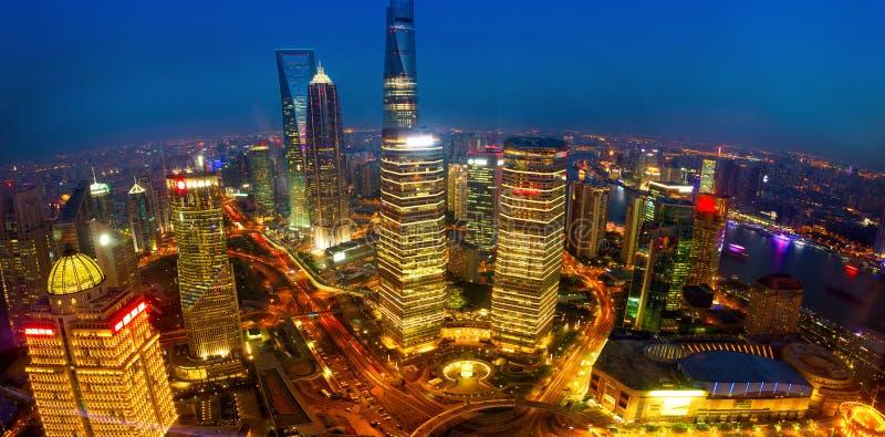 De luchtmening van Shanghai stock afbeeldingen