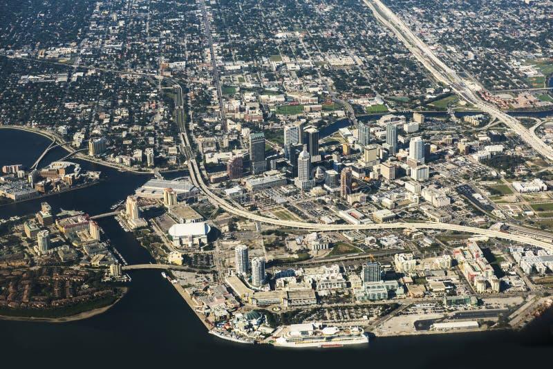 De Luchtmening van Tamper, Florida royalty-vrije stock fotografie