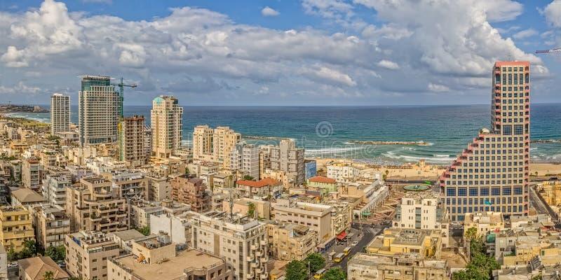 De luchtmening van Tel Aviv stock fotografie