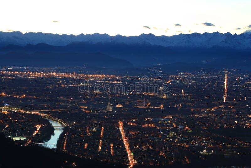 De luchtmening van Turijn royalty-vrije stock fotografie