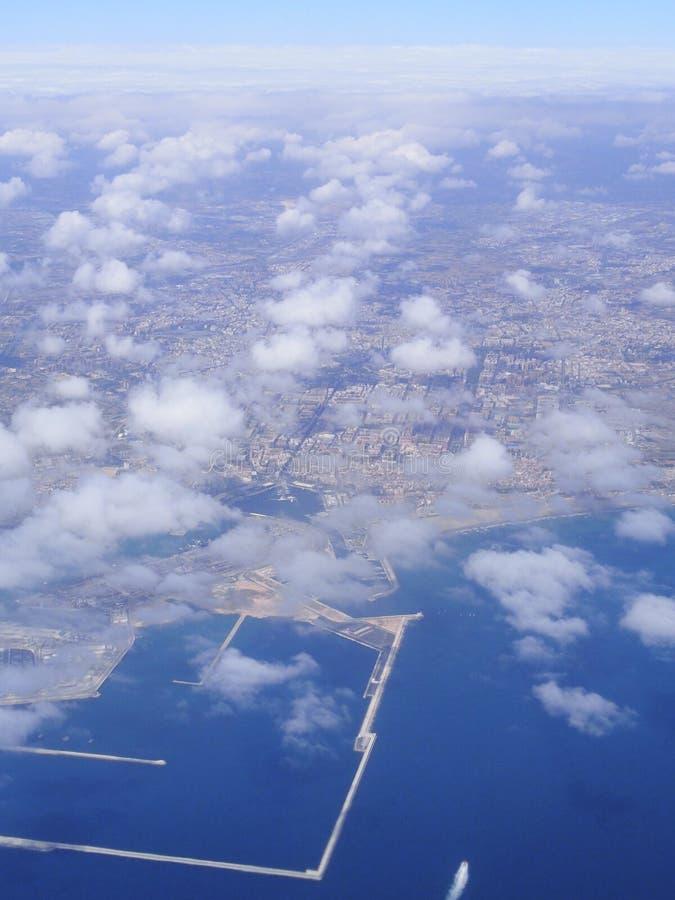 De luchtmening van Valencia royalty-vrije stock afbeelding