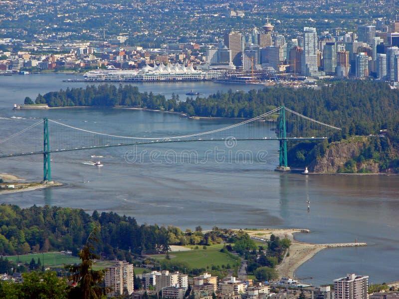 De luchtmening van Vancouver royalty-vrije stock foto's