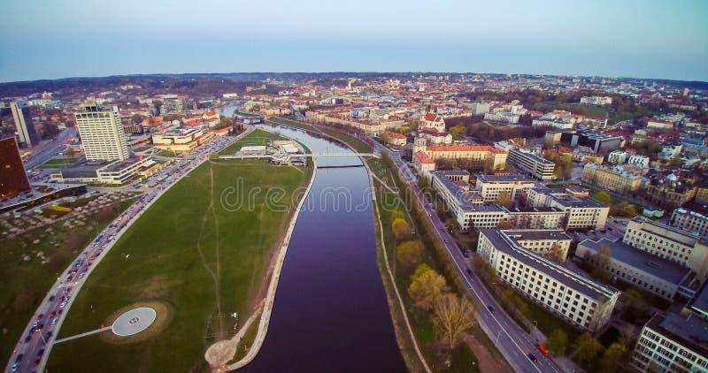 De luchtmening van Vilnius royalty-vrije stock fotografie