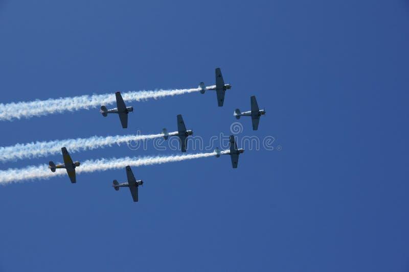 De Luchtparade van Warbirds stock foto's