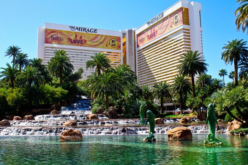 De luchtspiegeling, het Hotel & het Casino, Las Vegas, NV royalty-vrije stock foto