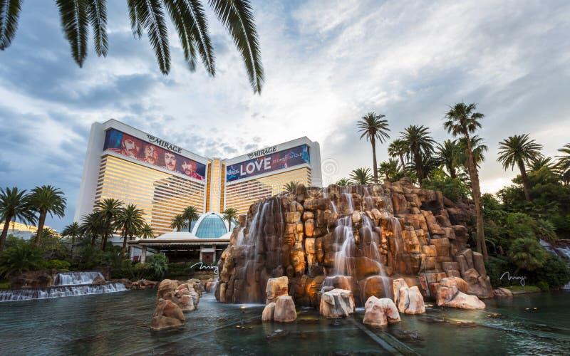 De Luchtspiegeling, de Strook, de Boulevard van Las Vegas, Las Vegas, Nevada, de V.S., Noord-Amerika stock afbeeldingen