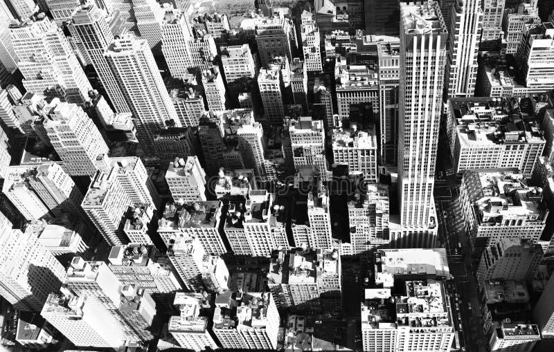 De luchtstad van New York stock afbeeldingen