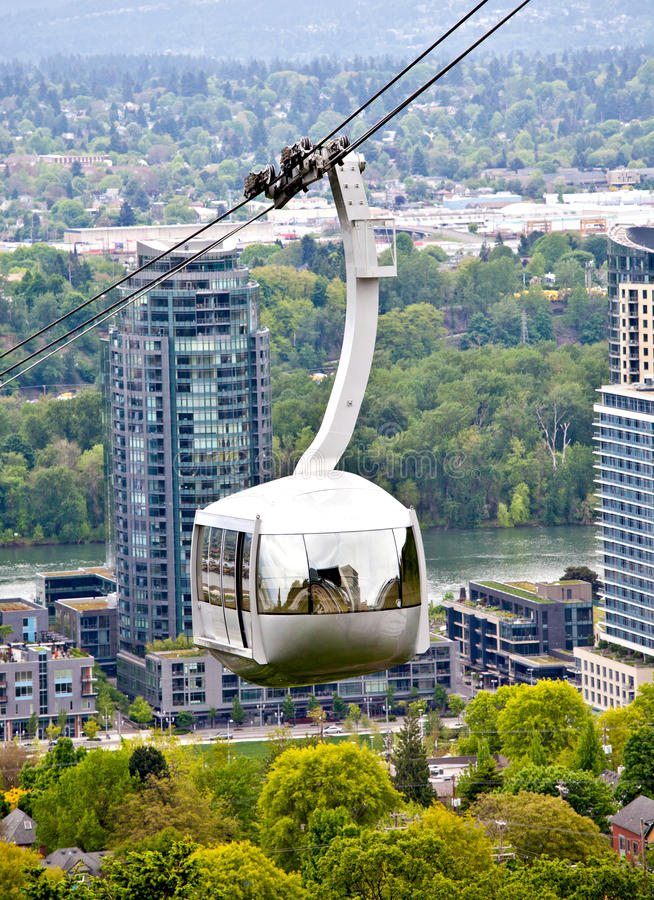 De luchttram van Portland Oregon stock afbeelding