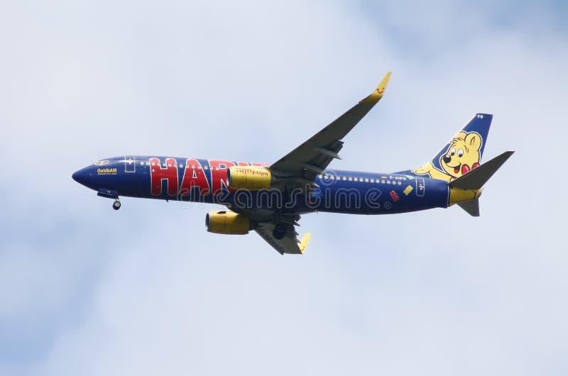 De Luchtvaartlijn van TuiFly stock afbeelding