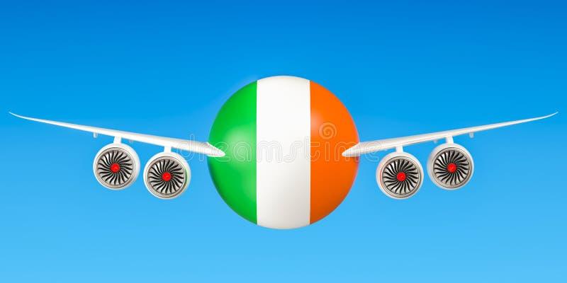 De luchtvaartlijnen en flying& x27 van Ierland; s concept het 3d teruggeven vector illustratie