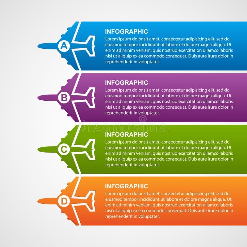 De luchtvaartlijnen reizen infographics vector illustratie
