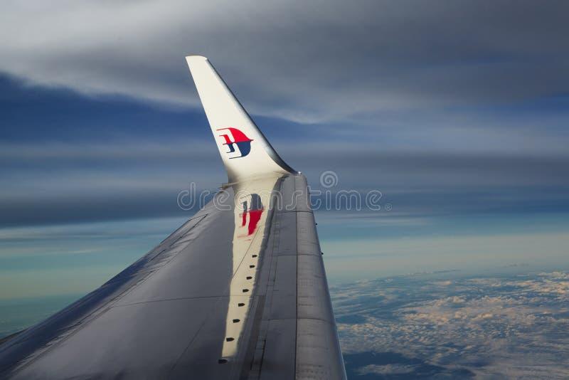 De luchtvaartlijnen van Maleisië royalty-vrije stock foto