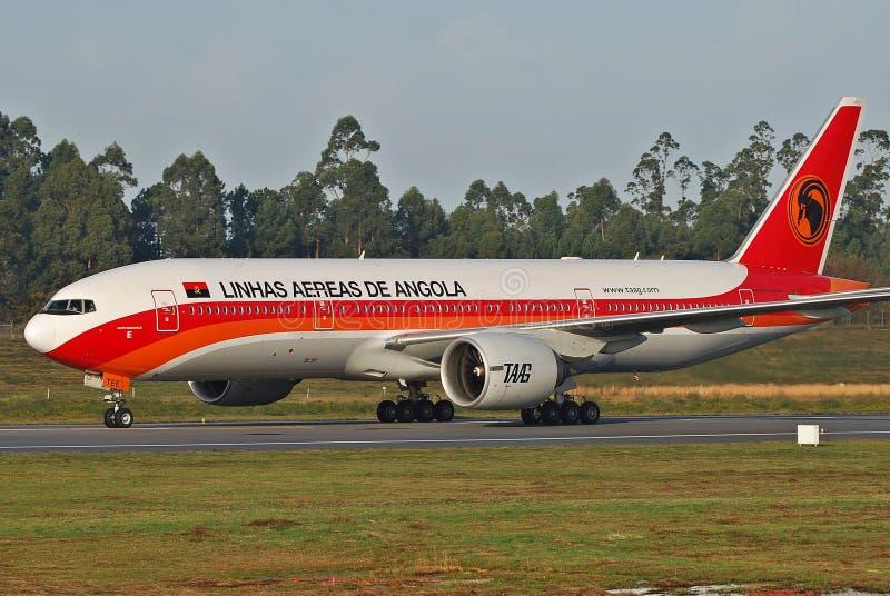 De Luchtvaartlijnen van TAAG Angola stock foto
