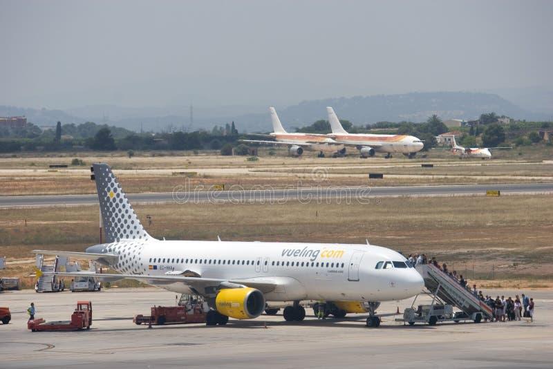 De Luchtvaartlijnen van Vueling royalty-vrije stock foto