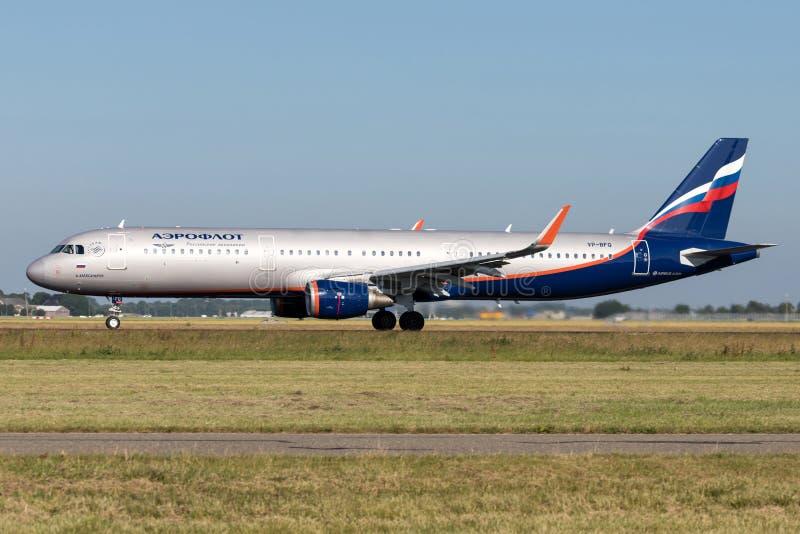 De Luchtvaartlijnenluchtbus A321-200 van Aeroflot royalty-vrije stock afbeelding