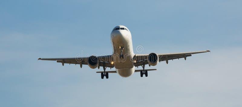 De Luchtvaartlijnenvliegtuig van IBERIA het landen royalty-vrije stock afbeelding