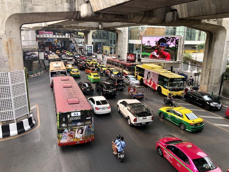 De luchtvervuiling van Bangkok royalty-vrije stock afbeeldingen