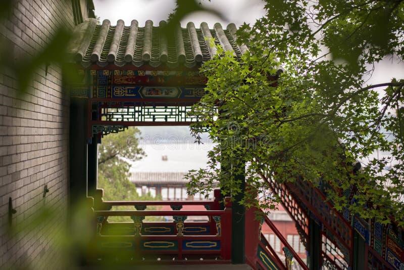 De luchtzolder van het Beihaipark royalty-vrije stock afbeelding