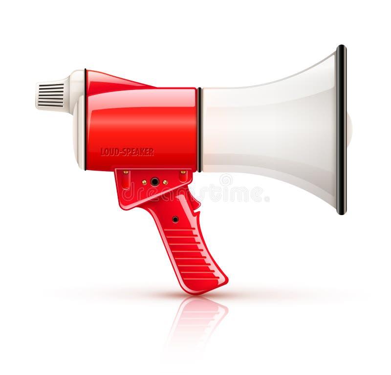 De luidspreker van de spreken-trompetmegafoon voor stemversterking royalty-vrije illustratie