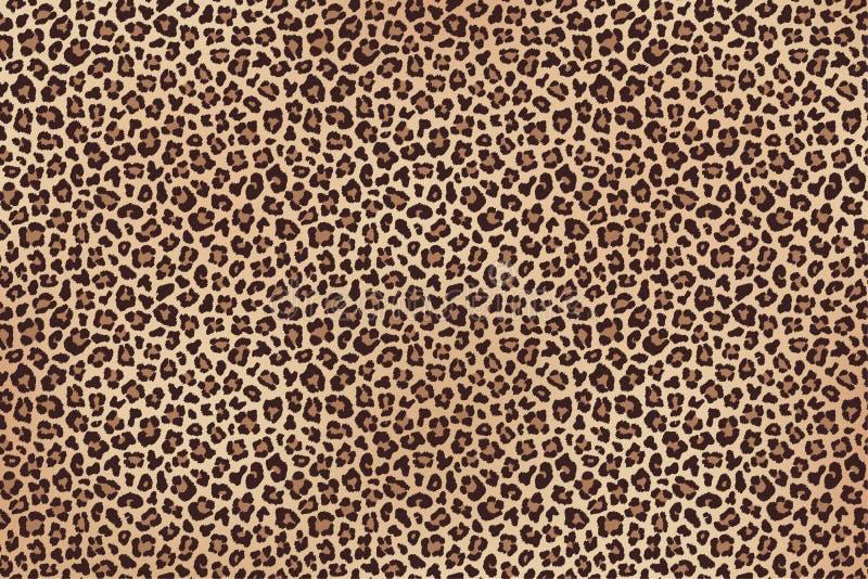 De luipaard bevlekte bruine bont horizontale textuur Vector royalty-vrije stock foto's