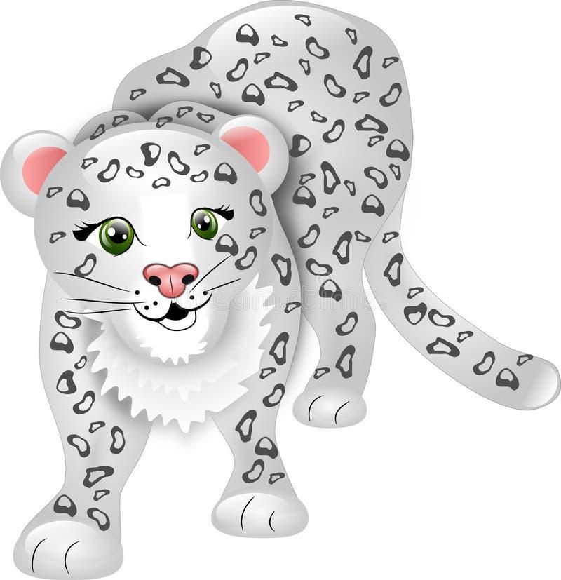 De Luipaard van de sneeuw vector illustratie
