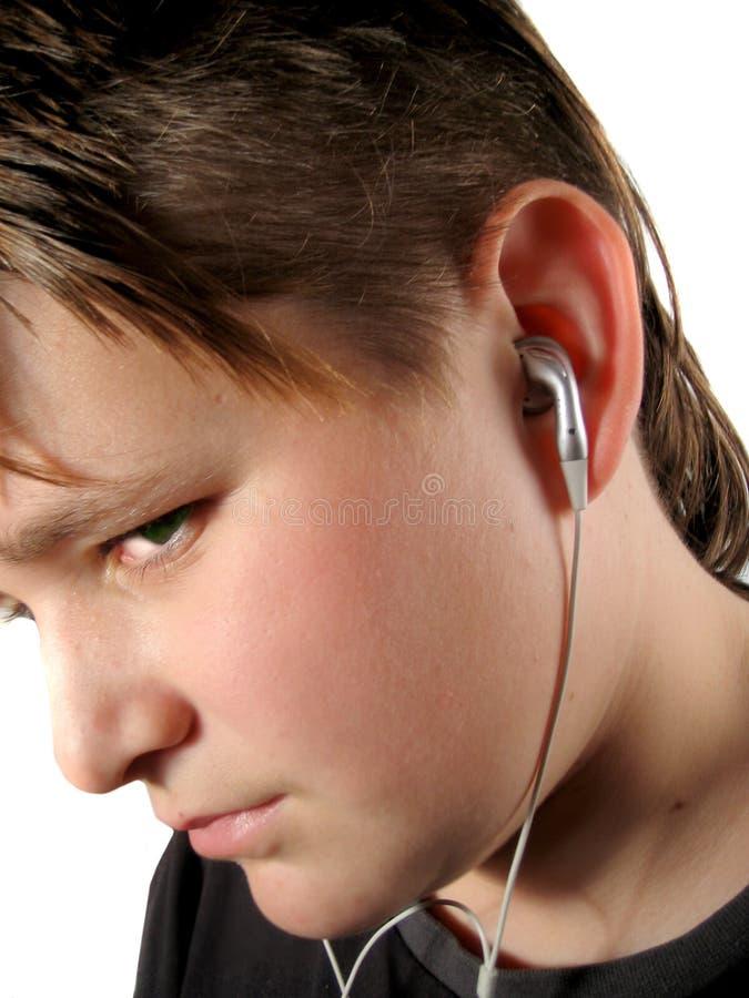 De luisteraar van de muziek royalty-vrije stock afbeeldingen