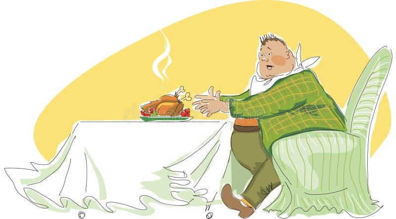 De lunch van de grote jongen stock illustratie