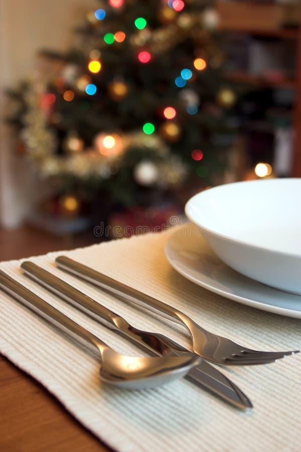 De lunch van Kerstmis stock foto