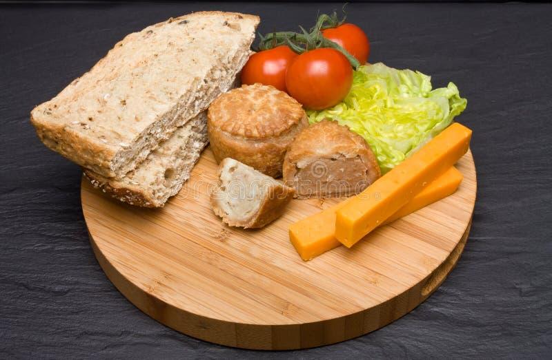 De Lunch van Ploughmans stock afbeelding