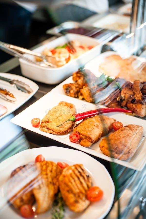 De lunchtijd van de voedselexpositie royalty-vrije stock fotografie