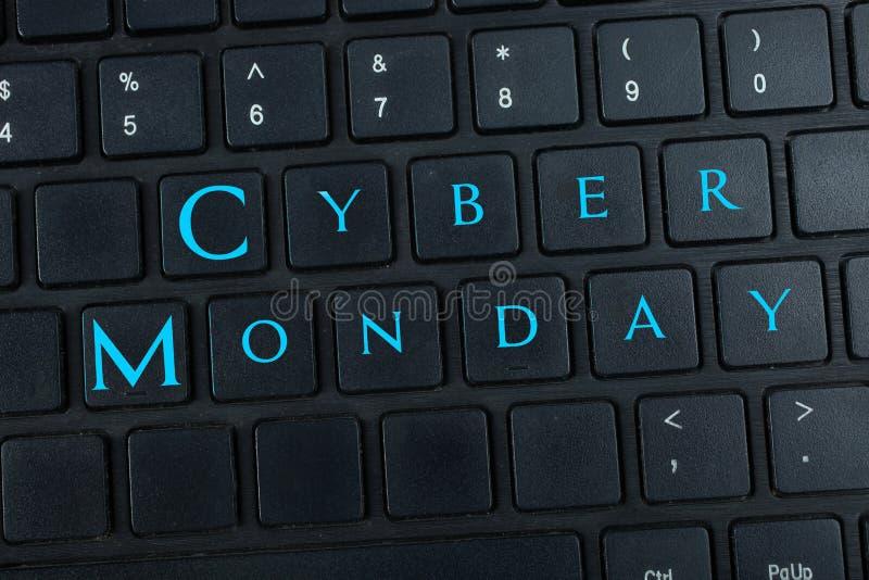 ` de lundi de Cyber de ` d'inscription photo stock
