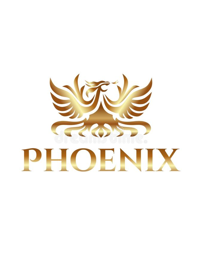 De luxe gouden embleem van Phoenix vector illustratie