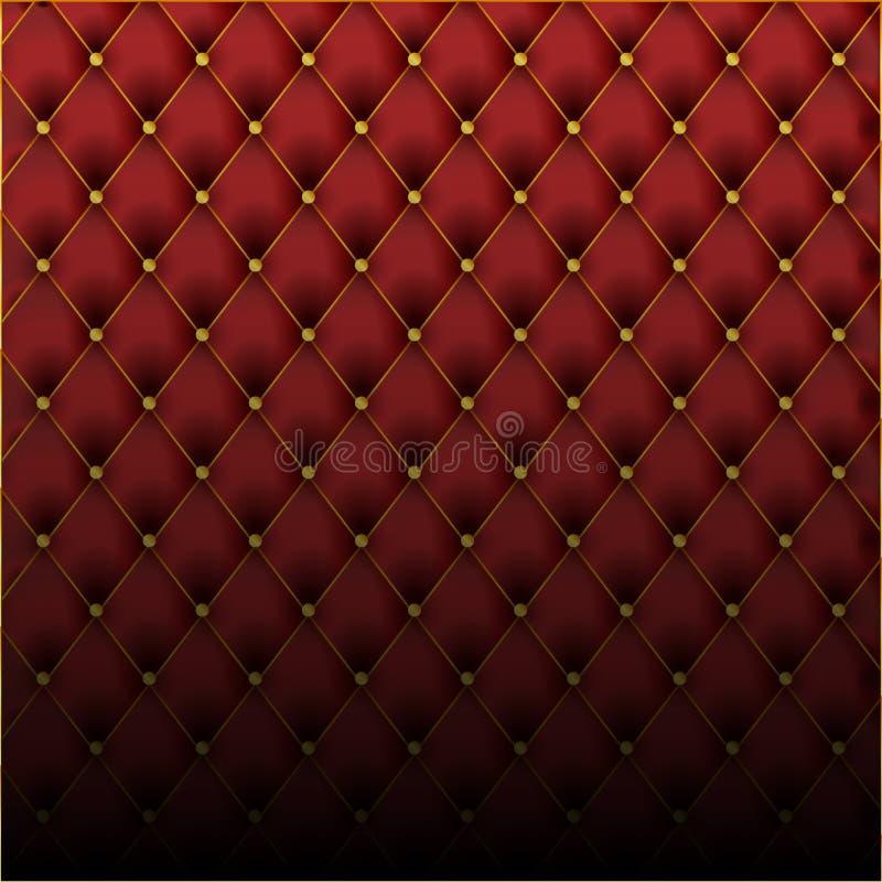 De luxe zwarte achtergrond van de leertextuur Het materiaal van het leerpatroon voor meubilairbehang royalty-vrije illustratie