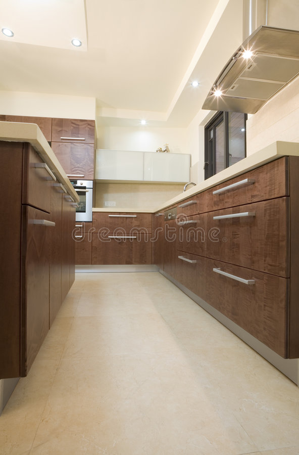 De luxeontwerp van de keuken stock foto's