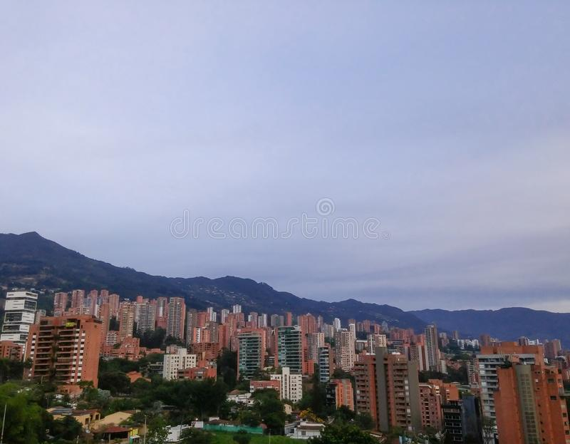 De luxueuze en exclusieve buurt van Gr Poblado in Medellin, Colombia royalty-vrije stock foto