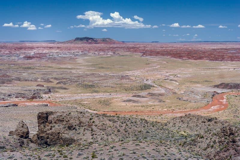 De målade ökenbadlandsna i området för fyra hörn av Arizona USA royaltyfria bilder