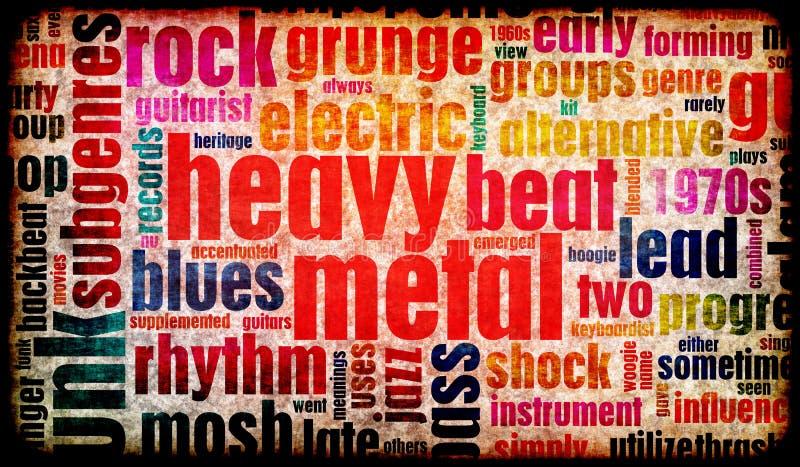 De métaux lourds illustration libre de droits