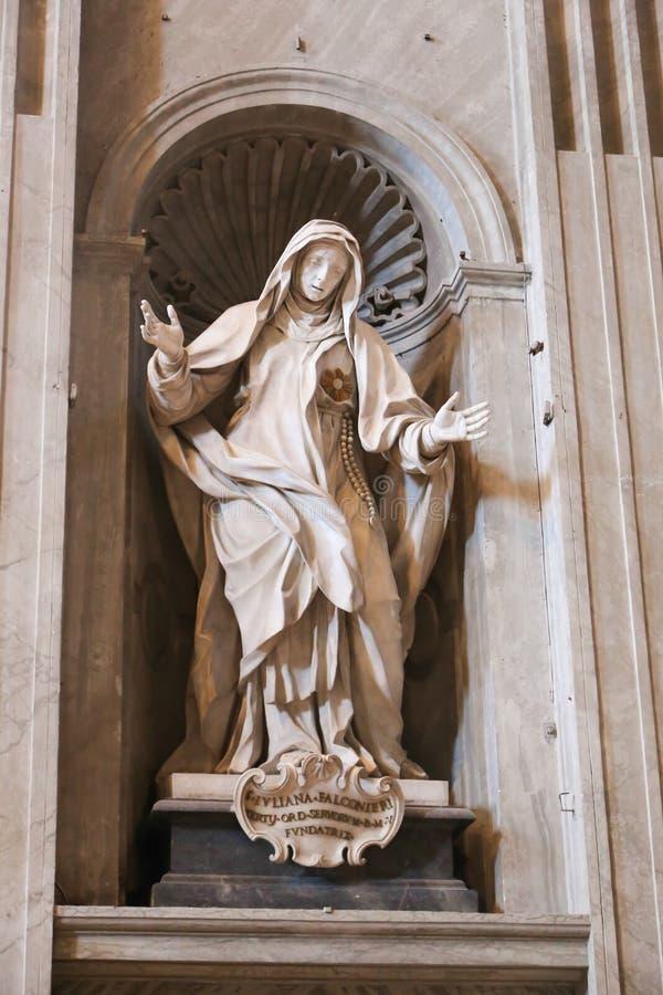 De maagdelijke Basiliek van het kunstbeeldhouwwerk - Vatikaan, Italië stock afbeelding