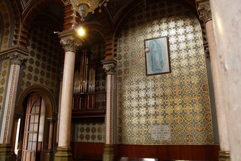 De maagdelijke kerk van Maria en van het orgaan in kathedraal, Leon, Guanajuato royalty-vrije stock fotografie