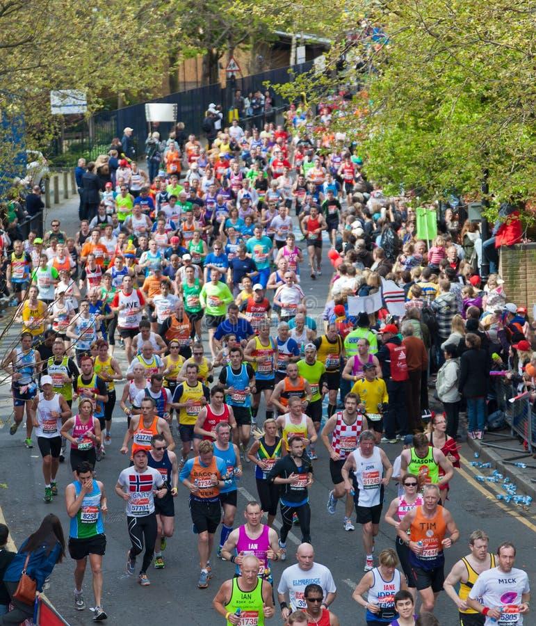 De maagdelijke Marathon 2012 van Londen