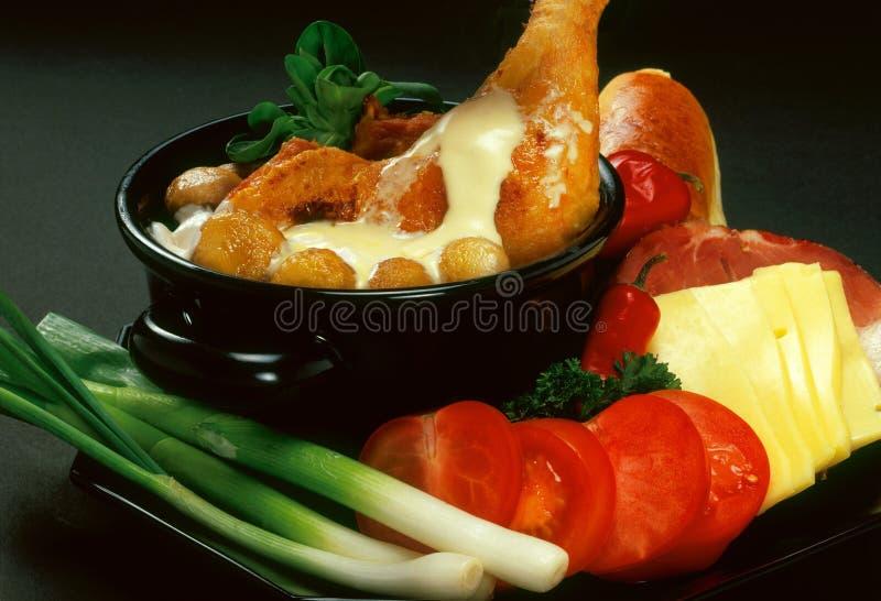 De maaltijd van de kip stock afbeelding