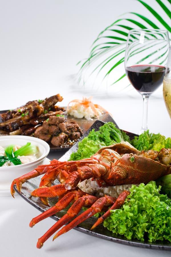 De maaltijd van de zeekreeft stock foto's