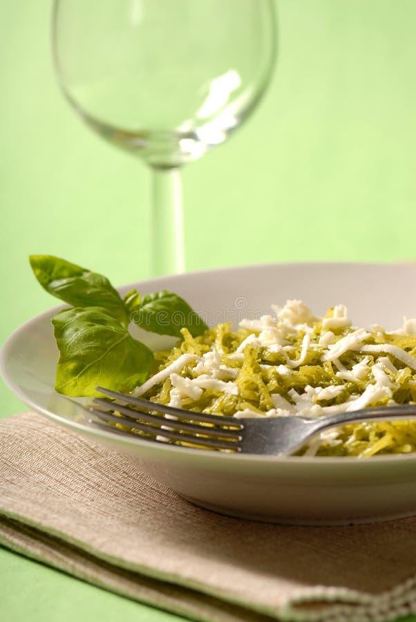 De maaltijd van Pesto royalty-vrije stock afbeelding