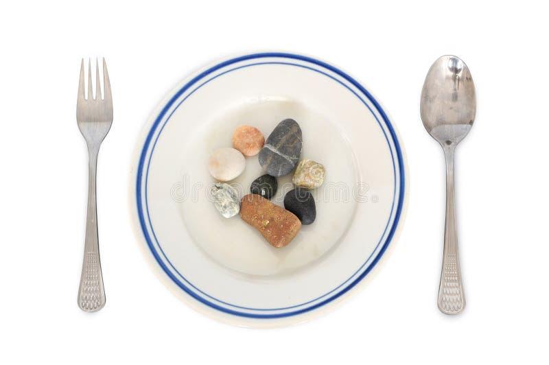 De maaltijd van stenen royalty-vrije stock fotografie